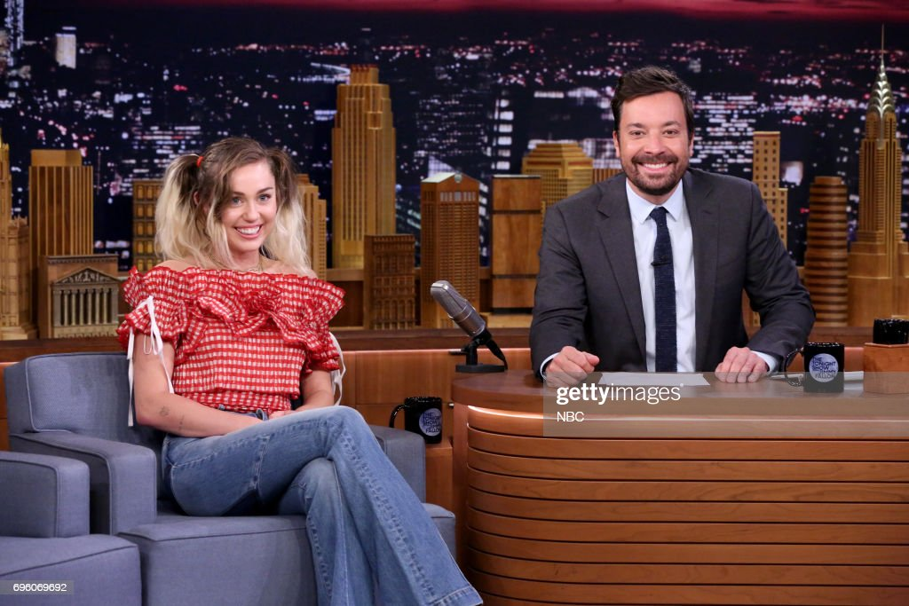 "NBC's ""Tonight Show Starring Jimmy Fallon"" With Guest Miley Cyrus"