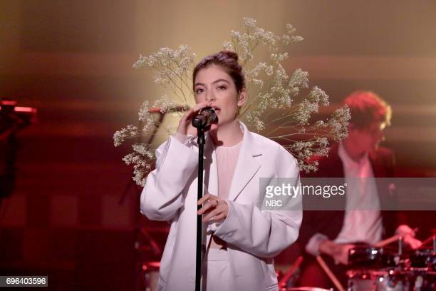 Musical Guest Lorde performs Perfect Places on June 15 2017
