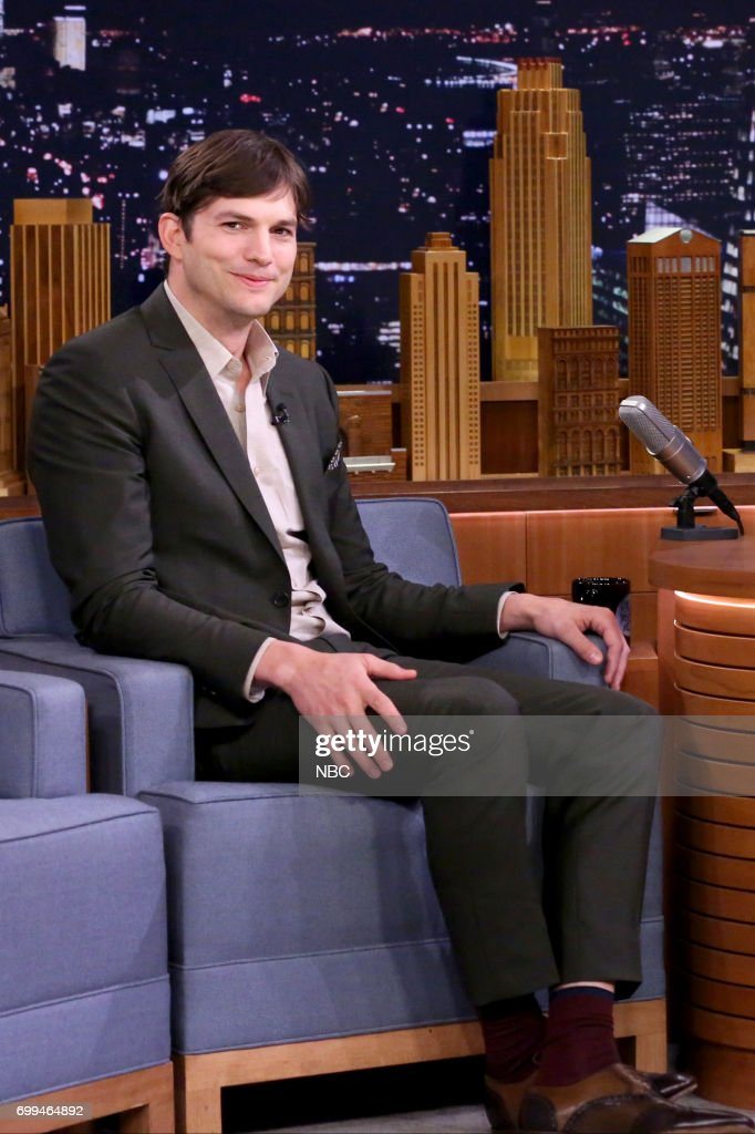 Actor Ashton Kutcher during an interview on June 21, 2017 --