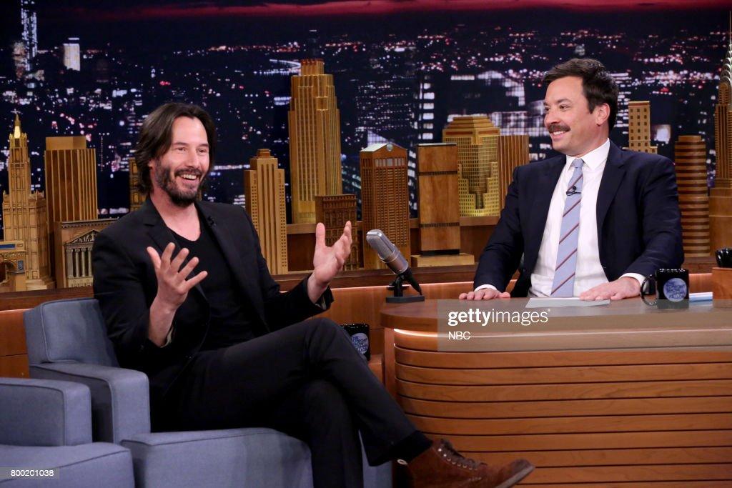 "NBC's ""Tonight Show Starring Jimmy Fallon"" With Guests Keanu Reeves, Cat Deeley, Ali Kolbert"