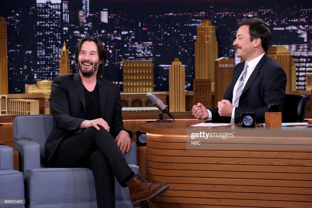 "NBC's ""Tonight Show Starring Jimmy Fallon"" With Guests Keanu Reeves, Cat Deeley, Ali Kolbert"