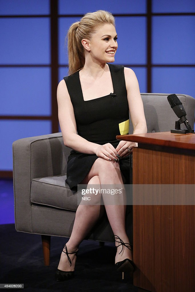 Actress Anna Paquin during an interview on July 15, 2014 --