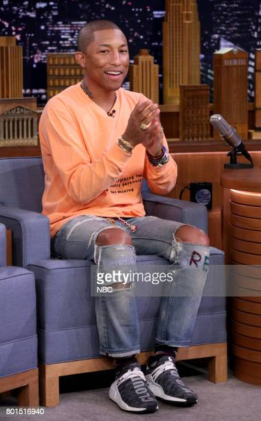 Music Producer Pharrell Williams during an interview on June 26 2017