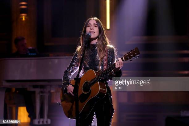 Danielle Haim of Musical Guest Haim performs 'Want You Back' on June 29 2017