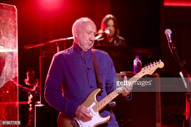 Pete Townshend of The Who performs 'I Can See for Miles' on July 19 2017