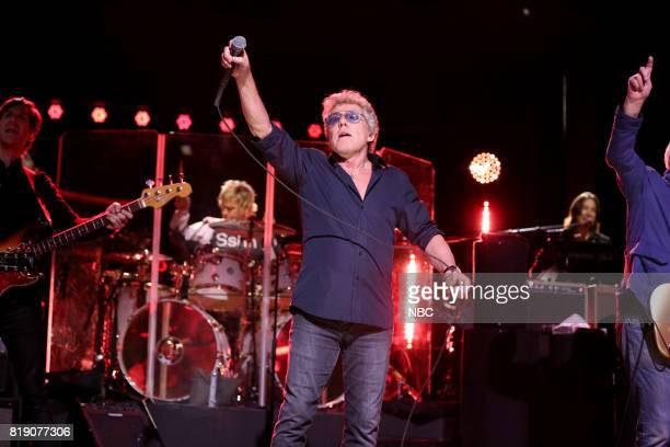 Roger Daltrey of The Who performs 'I Can See for Miles' on July 19 2017