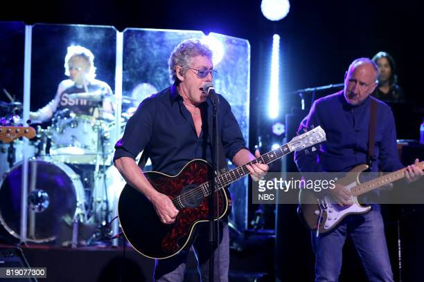 Roger Daltrey Pete Townshend of The Who perform 'I Can See for Miles' on July 19 2017