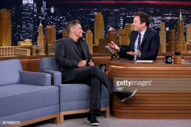 Actor Rob Lowe during an interview with host Jimmy Fallon on July 24 2017