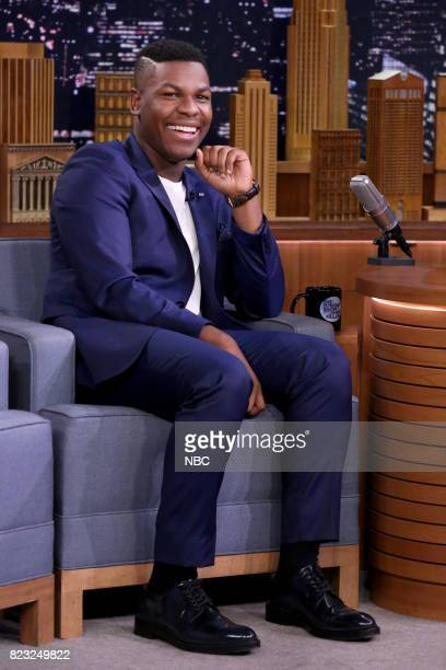 Actor John Boyega during an interview on July 26 2017