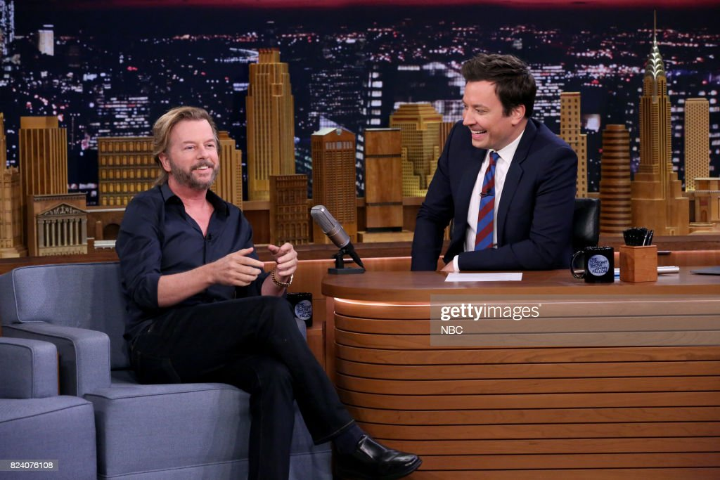 Comedian/Actor David Spade during an interview with host Jimmy Fallon on July 28, 2017 --