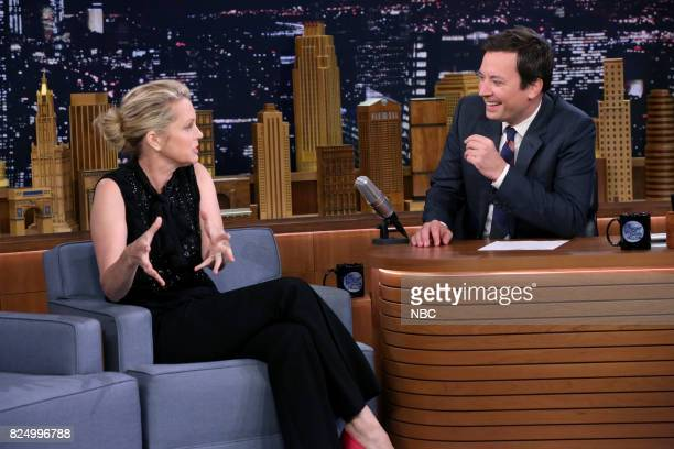 Comedian Ali Wentworth during an interview with host Jimmy Fallon on July 31 2017