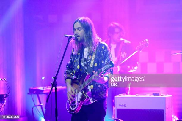 Kevin Parker of Musical Guest Tame Impala performs Love/Paranoia on July 31 2017
