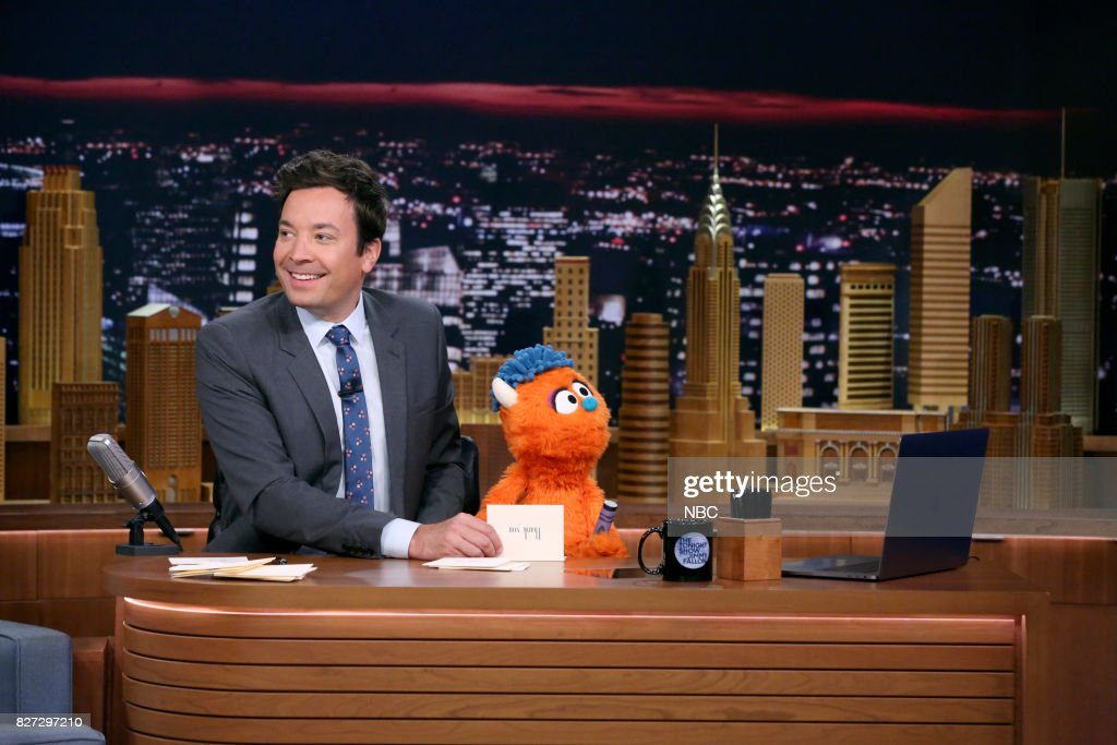 Host Jimmy Fallon with Rudy during 'Thank You Notes' on August 4, 2017 --