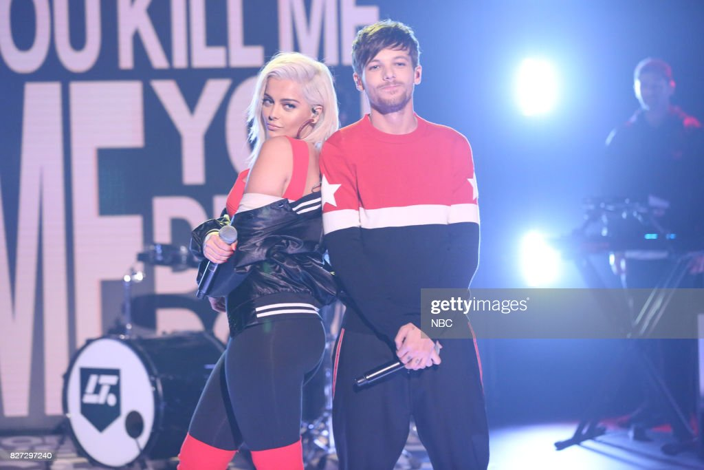 Musical Guest Louis Tomlinson Ft. Bebe Rexha and Digital Farm Animals performs 'Back to You' on August 4, 2017 --