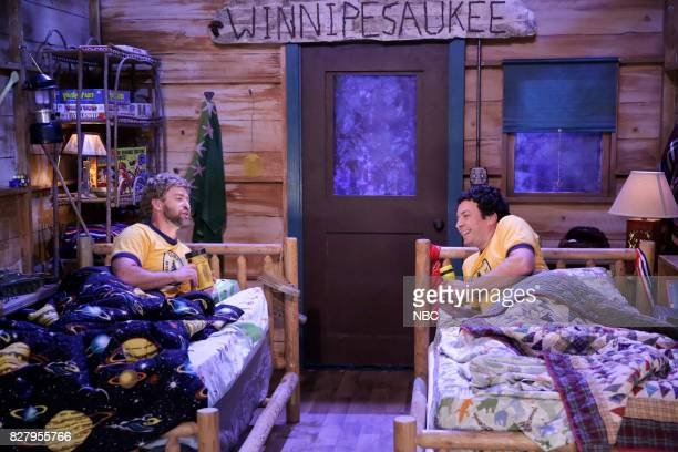 Justin Timberlake and Jimmy Fallon as campers during 'Camp Winnipesaukee' on August 8 2017