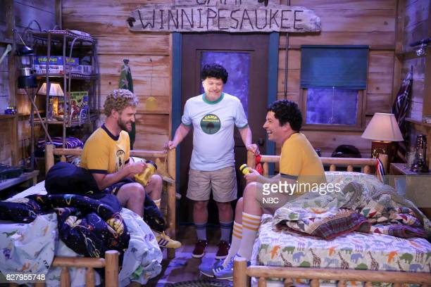 Justin Timberlake Billy Crystal and Jimmy Fallon during 'Camp Winnipesaukee' on August 8 2017