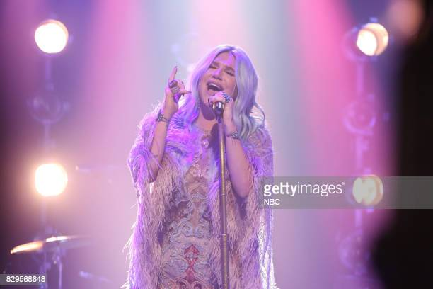 Musical Guest Kesha performs 'Praying' on August 10 2017