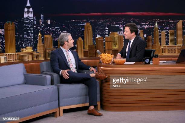 Andy Cohen during an interview with host Jimmy Fallon on August 11 2017