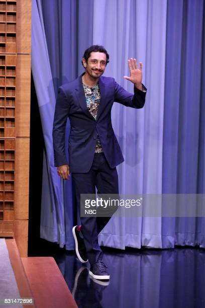 Actor Riz Ahmed arrives for an interview on August 14 2017