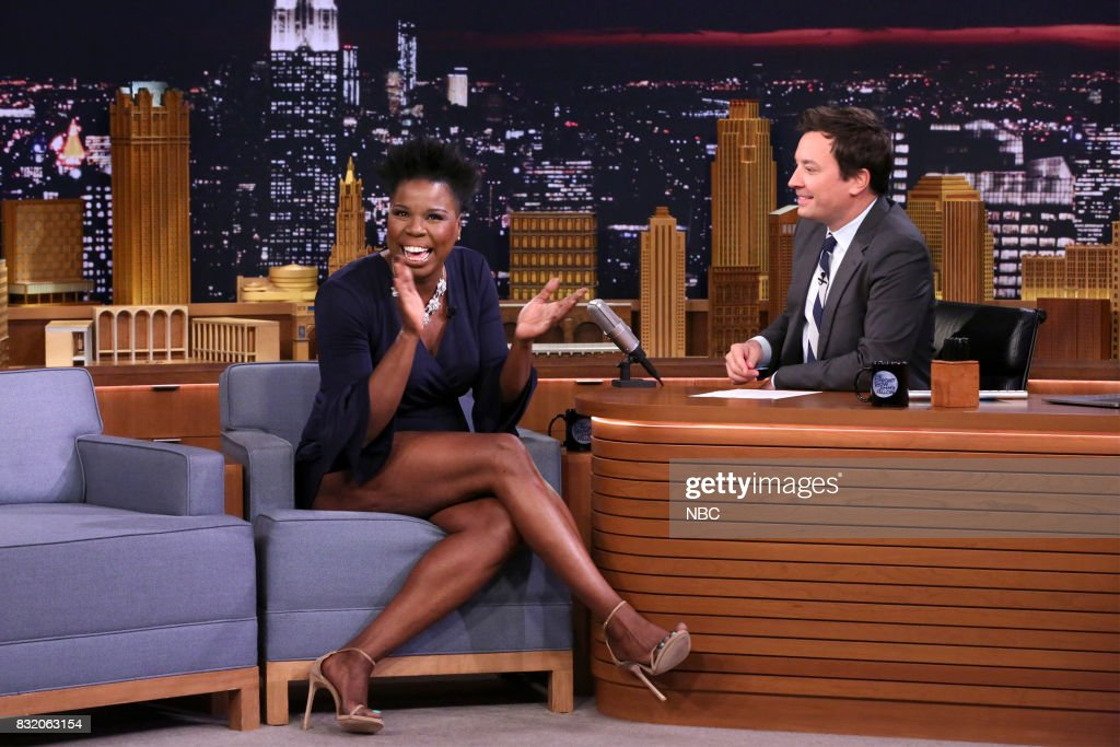 Comedian Leslie Jones during an interview with host Jimmy Fallon on August 15, 2017 --
