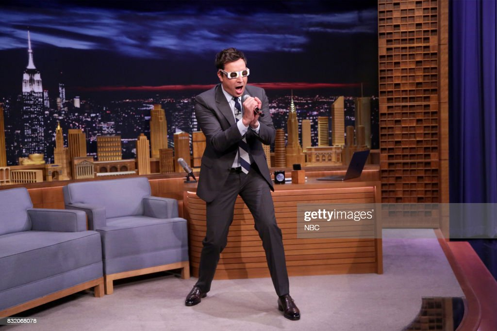 Host Jimmy Fallon during his monologue on August 15, 2017 --