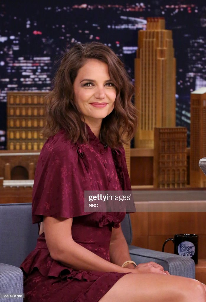 Actress Katie Holmes during an interview on August 16, 2017 --