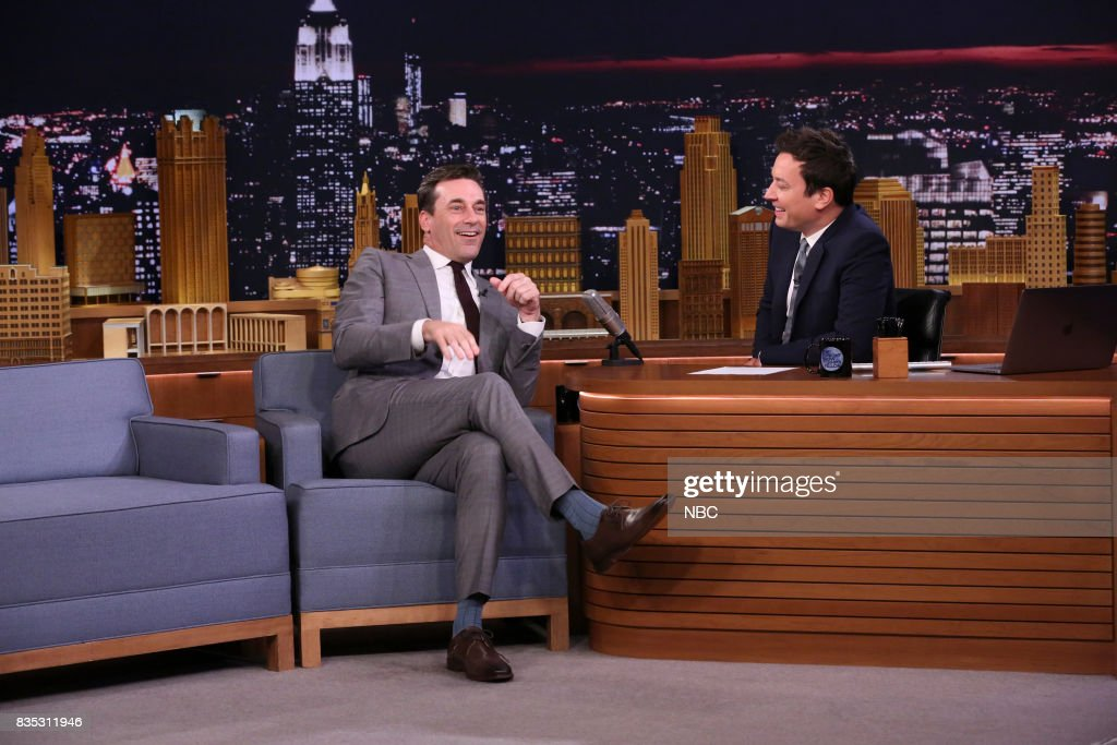 Jon Hamm during an interview with host Jimmy Fallon August 18, 2017 --