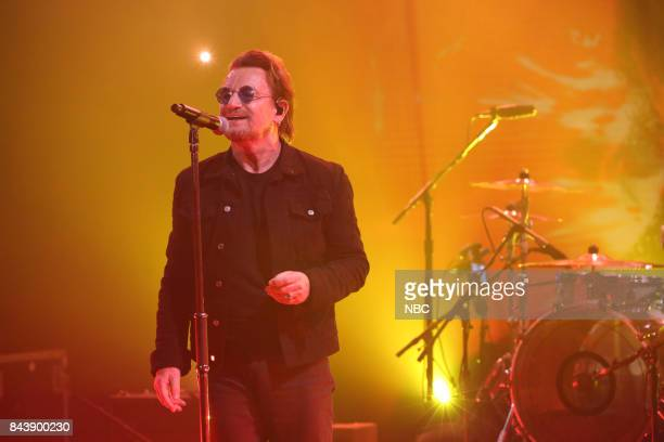 """Episode 0732 -- Pictured: Musician Bono of U2 performs """"You're The Best Thing About Me"""" on September 7, 2017 --"""