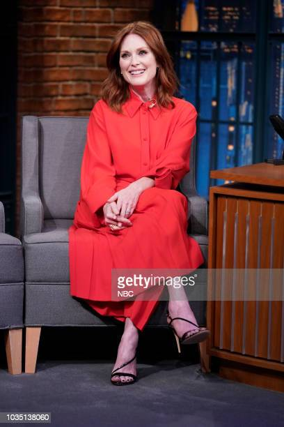 Actress Julianne Moore during an interview on September 17 2018