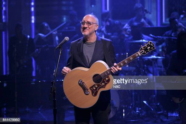 "Episode 0733 -- Pictured: Pete Townshend performs ""Love Reign O'er Me"" on September 8, 2017 --"