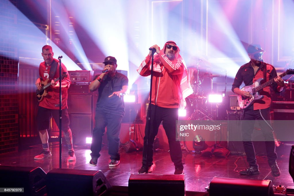"""NBC's """"Tonight Show Starring Jimmy Fallon"""" With Seth Meyers, Russell Westbrook, Prophets of Rage"""