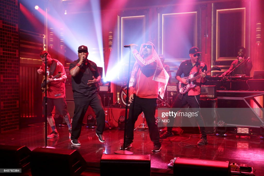 "NBC's ""Tonight Show Starring Jimmy Fallon"" With 			Seth Meyers, Russell Westbrook, Prophets of Rage"