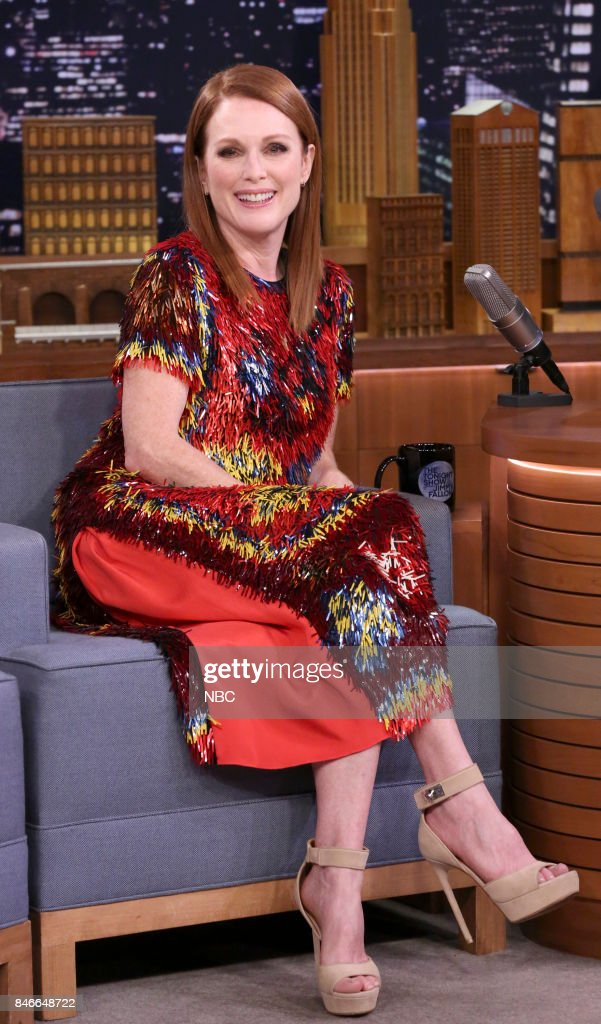 Actress Julianne Moore during an interview on September 13, 2017 --