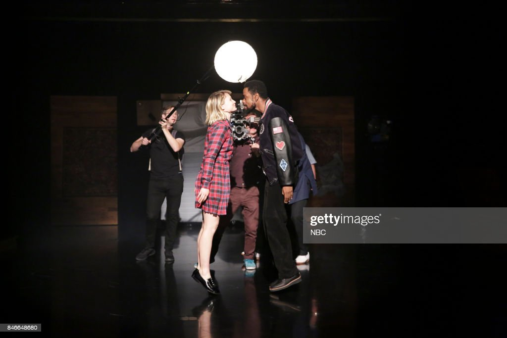 Mia Wasikowska, Lakeith Stanfield during a Spike Jonze Live Dance Performance on September 13, 2017 --