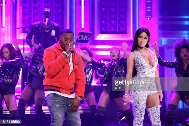 Musical Guest Yo Gotti performs 'Rake It Up' with Nicki Minaj on September 14 2017