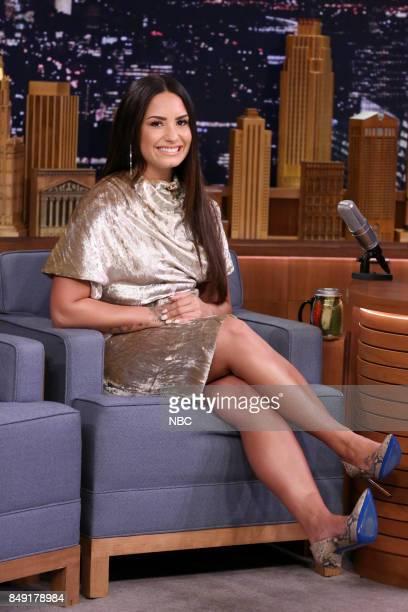 Singer Demi Lovato during an interview on September 18 2017