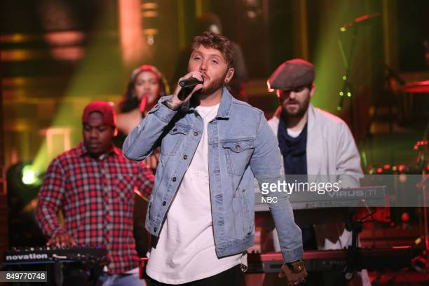 Musical Guest Rudimental performs Sun Comes Up with James Arthur on September 19 2017