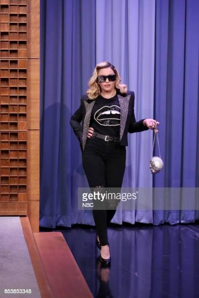 Singer Madonna arrives for an interview on September 25 2017