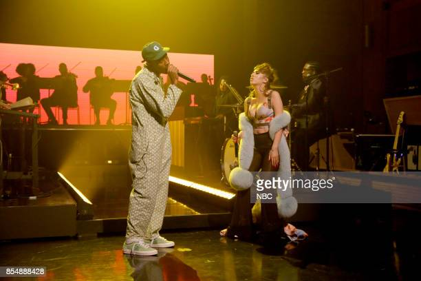 Musical Guest Tyler The Creator performs See You Again with Kali Uchis on September 27 2017