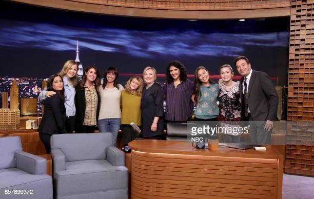 Episode 0751 -- Pictured: The Tonight Show Writers Albertina Rizzo, Becky Krause, Caroline Eppright, Marina Cockenberg, Jo Firestone, Hillary Rodham...