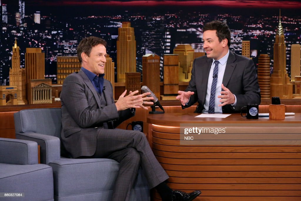 Actor Stephen Moyer during an interview with host Jimmy Fallon on October 11, 2017 --