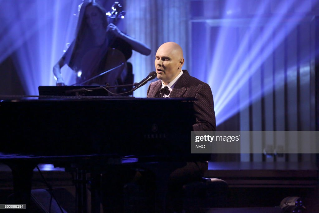 Musical Guest William Patrick Corgan performs 'Aeronaut' on October 12, 2017 --