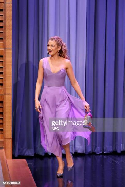 Actress Blake Lively arrives for an interview on October 13 2017