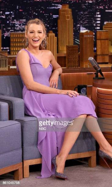 Actress Blake Lively during an interview on October 13 2017