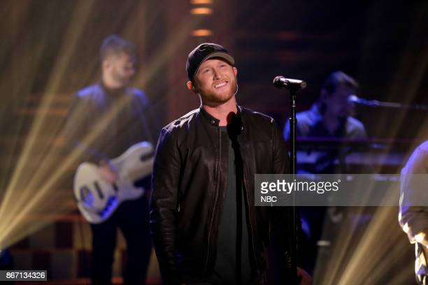 Musical Guest Cole Swindell performs Stay Downtown on October 26 2017