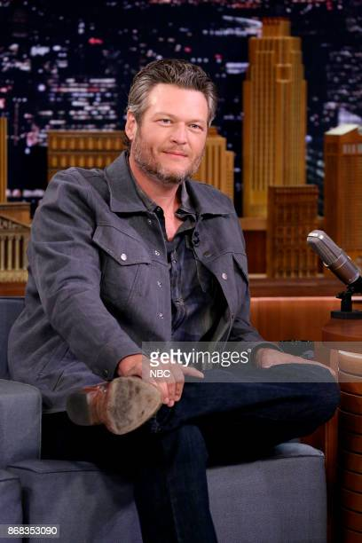 Musician Blake Shelton during an interview on October 30 2017