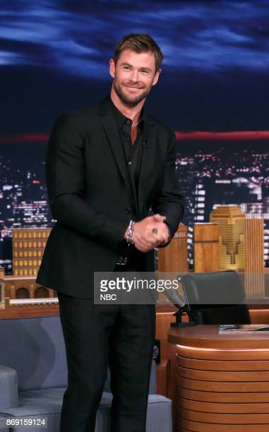 Actor Chris Hemsworth during an interview on November 1 2017
