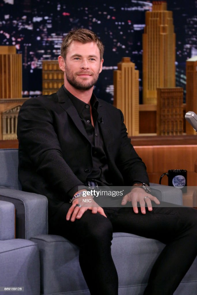 Actor Chris Hemsworth during an interview on November 1, 2017 --