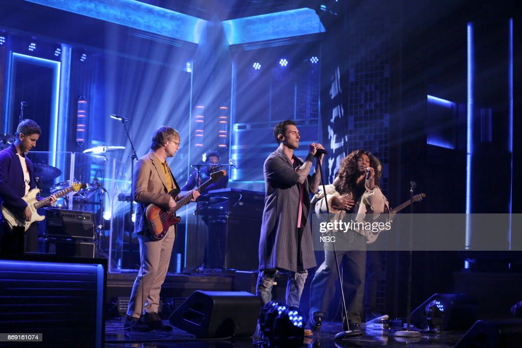 Musical Guest Maroon 5 ftz. SZA performs 'What Lovers Do' on November 1, 2017 --