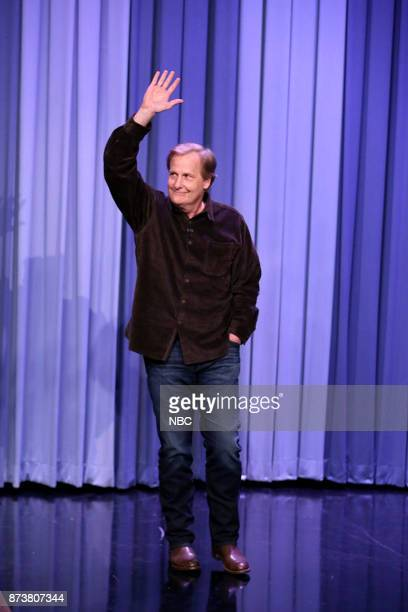 Actor Jeff Daniels arrives for an interview on November 13 2017